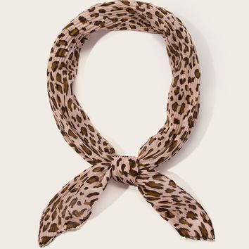 Leopard Pleated Bandana