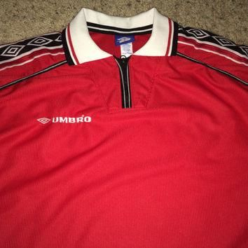 Sale!! Vintage UMBRO Template Manchester United Home 1998/2000 Soccer Jersey MUFC Foot