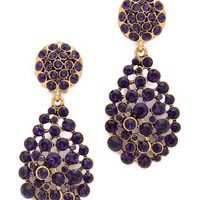 Oscar de la Renta Crystal Teardrop Earrings