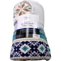 Mainstays Micro Fleece to Baby Sherpa Throw, Fair Isle - Walmart.com