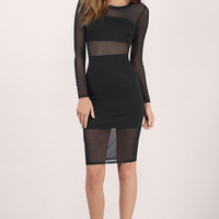 Wait And See Mesh Midi Dress