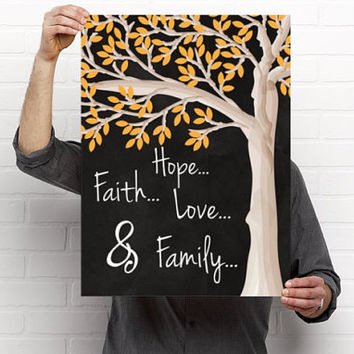 Wedding Family Tree sign, Sign in Guest Book Alternative, Chalkboard Wedding sign, Printed on Foam Board, Tree Guest Book 85 Guests, 16 x 20