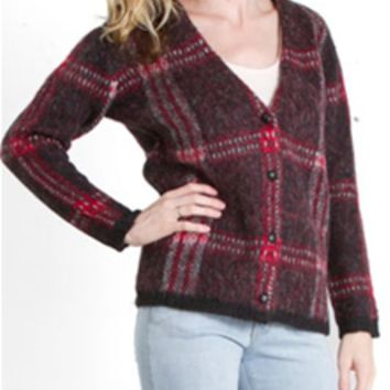 Joa Clothing Plaid Cardigan Sweater BC2601