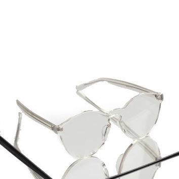 Claritii Clear Lucite Sunglasses