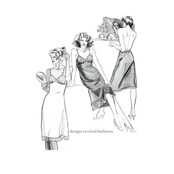 FULL SLIP LINGERIE Pattern, Half Slip Pattern for Stretch Knits Stretch & Sew 2055 Bust 28 to 44 UNCuT 1980s Vintage Women's Sewing Patterns