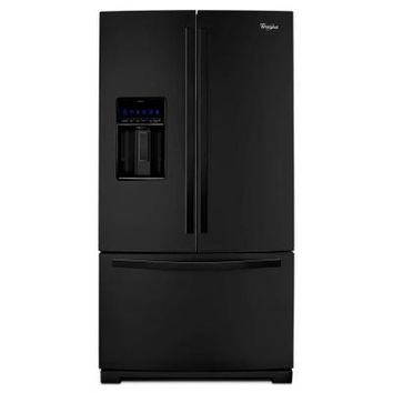 Whirlpool, Gold 26.8 cu. ft. French Door Refrigerator in Black, WRF989SDAB at The Home Depot - Tablet