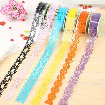 4 pcs/lot lace tape DIY diary album photo decorative stickers masking tape scrapbooking tools kawaii stationery