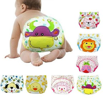 Children Cartoon Potty Training Pants Cotton Leak-proof Diapers For Baby Boy Briefs Newborn Underwear Panties 80 90 100 Cm