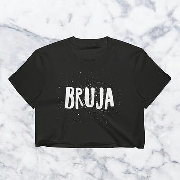 Bruja, Crop Top, Bruja Shirt, Witch Shirt, Witchy Gift For Her, Aesthetic Clothing, Halloween Gift, Witchcraft, Occult, Occult Tshirt