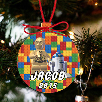 LEGO Ornament - Lego Movie Character C3PO & R2D2