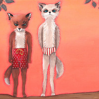 Fantastic Mr. Fox: Ash Meets Cousin Kristofferson Print