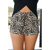 Send My Love Shorts (Leopard)