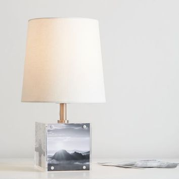 Acrylic Photo Holder Table Lamp