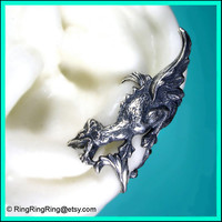 Griffin with wings ear cuff wrap in antiqued by RingRingRing