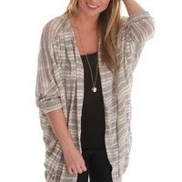 Winters Tale Striped Lightweight Cardigan
