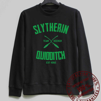 Slytherin Quidditch Shirt Harry Potter Sweatshirt Sweater Hoodie Shirt – Size XS S M L XL