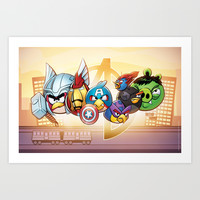 Angry Birds Avengers Art Print by Freetage