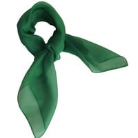 Emerald Green Retro Chiffon Scarves