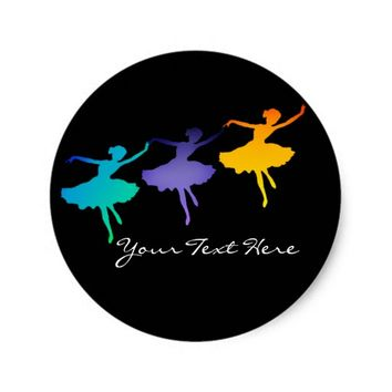 Three Dancers Classic Round Sticker