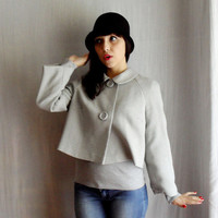 Grey cropped jacket 50s inspired Sizes from XS to by AliceCloset