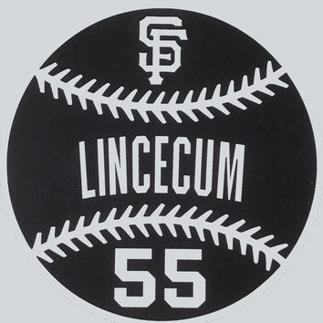 San Francisco Giants Baseball Outline Vinyl Decal with Player Name & Number - Pick Your Player!  - Medium