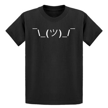 Youth ASCII Shrug Kids T-shirt