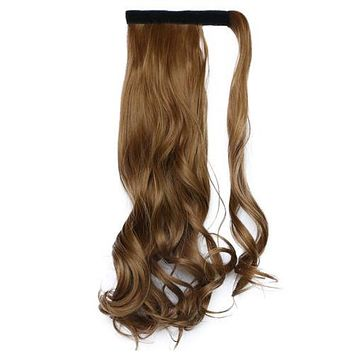 24 inch 60cm Long Ponytail  Magic Tape Invisible  Hair extension various colors
