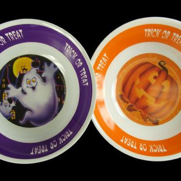 48 Halloween Candy Bowls - Orange And Purple