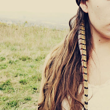 Handmade Extra Long Pheasant Feather Extension Hair Clip, 14 inches long, feather symbolism