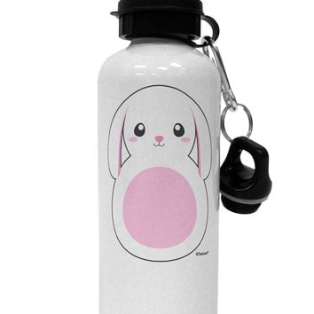 TooLoud Cute Bunny with Floppy Ears - Pink Aluminum 600ml Water Bottle