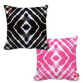 Black Pink Tie Dye Couch Sofa Cute Pillows Cover