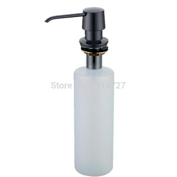 New Arrival Deck Mount Kitchen Sink Granite Countertop Hand Pump Replacement White Liquid Dish Soap Dispenser PP Bottle Parts
