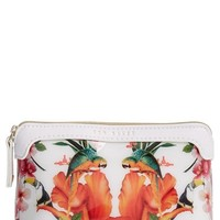 Ted Baker London 'Small Tropical Toucan' Cosmetics Case - White