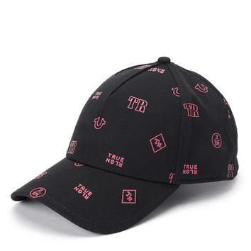 True Religion Monogram Twill Baseball Cap - Black