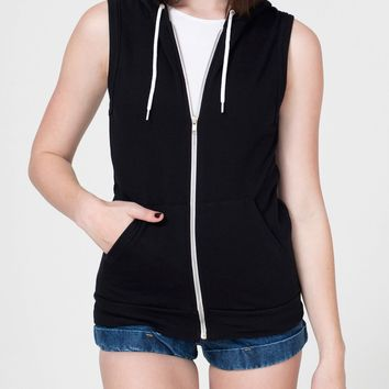 Unisex California Fleece Sleeveless Zip Hoodie | American Apparel