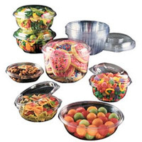 8 OZ Presenta Plastic Round Salad Bowls/Set of 504