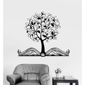 Vinyl Wall Decal Open Book Magic Tree Fairy Tale Children's Room Stickers Unique Gift (1826ig)