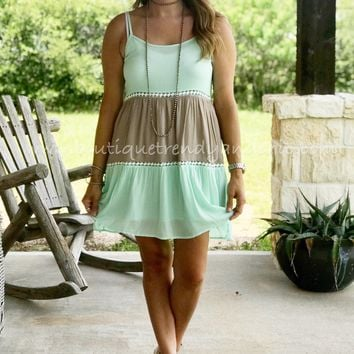 SUMMERTIME COLOR BLOCK DRESS