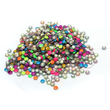 1000Pcs Fluorescent Colorful Cute Nail Decoration Rhinestones