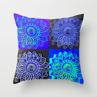 Blue Stars Throw Pillow by 2sweet4words