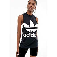 ADIDAS 2019 new women's casual sports vest black