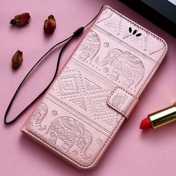 KISSCASE 3D Elephant Patterned Flip Leather Case for iPhone 7 7 49a7358e6