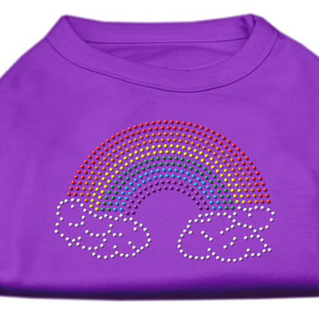 Rhinestone Rainbow Shirts Purple S (10)