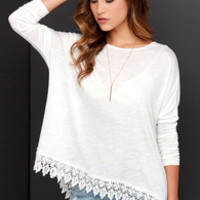 Black Swan Impulse Ivory Long Sleeve Top