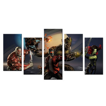 Home Decor Canvas Wall Art Marvel Comic Guardians Of The Galaxy