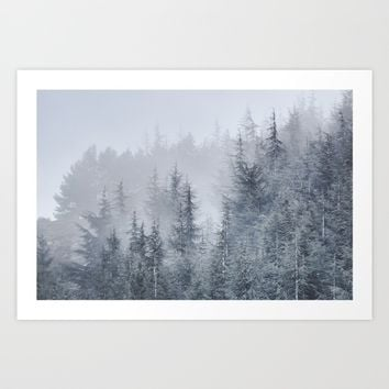 Early moorning... Into the woods Art Print by Guido Montañés