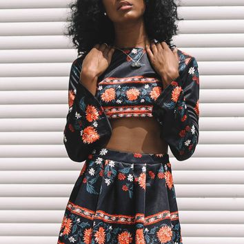 Conflicted Ways Floral Two Piece Set