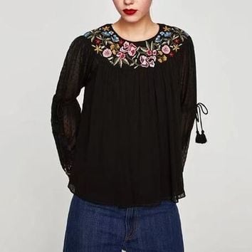 Forest Lace Flowy Top