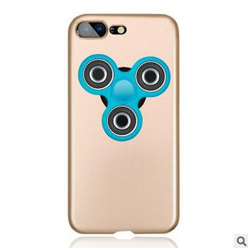 2 in 1 Tri-Spinner fidget Matte Phone Case With Finger Spinner for iPhone 7 7 Plus 6 6s 6Plus Ultra Thin Hard PC Cover Back Skin