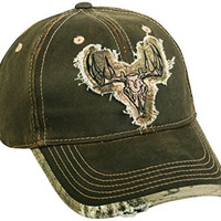 Realtree Adjustable Closure Deer Skull Logo Cap, Dark Brown/Realtree Xtra Camo